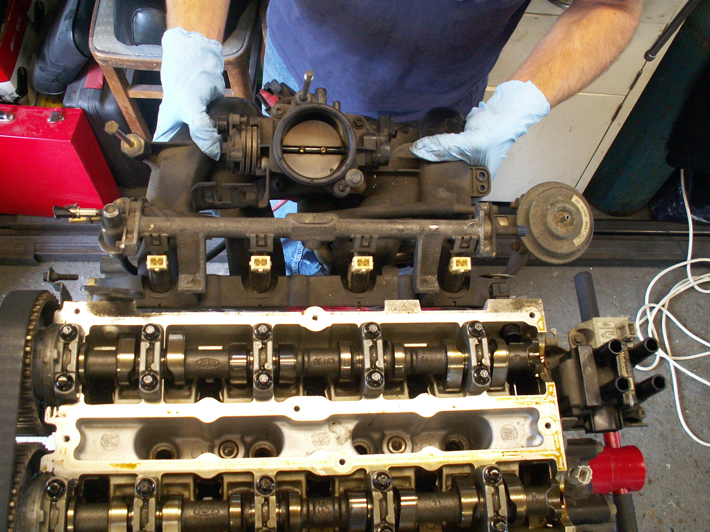 Ford zetec cylinder head removal