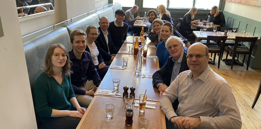 Farewell lunch for Christine